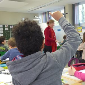 Englisch-Unterricht in der Klasse 5b des Struensee Gymnasiums.